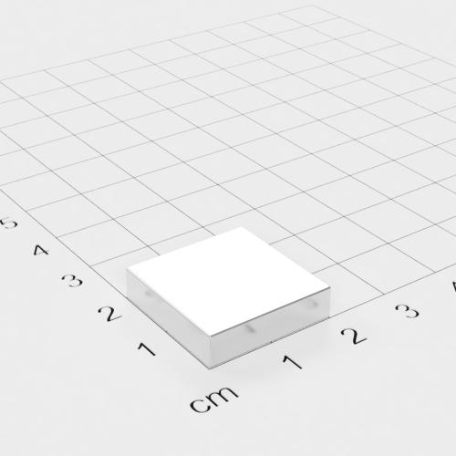 Neodym Quadermagnet, 20x20x5mm, vernickelt, Grade N45