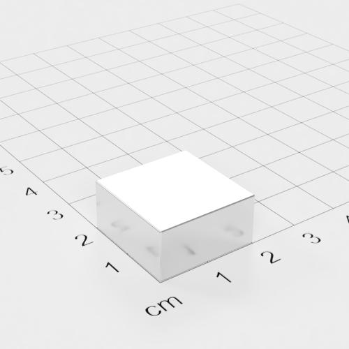 Neodym Quadermagnet, 20x20x10mm, vernickelt, Grade N45
