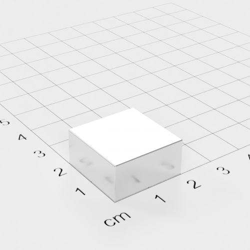 Neodym Quadermagnet, 20x20x10mm, vernickelt, Grade N48