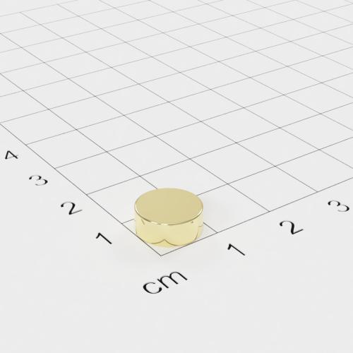 Neodym Scheibenmagnet, 10x4mm, vergoldet, Grade N42