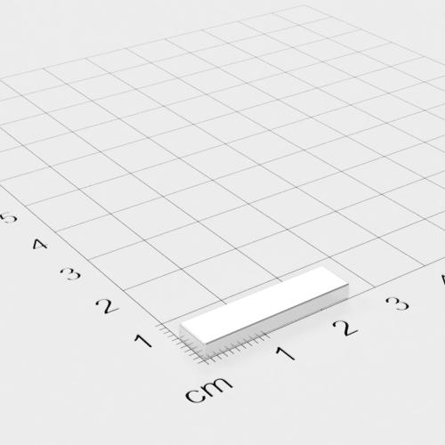 Neodym Quadermagnet, 25x6x2mm, vernickelt, Grade N45SH