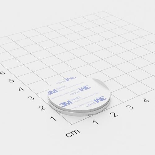 Metallscheibe 30x2mm selbstklebend 3M-Haftgrund Polsterschaum