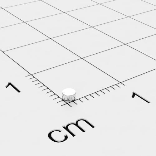 Neodym Scheibenmagnet, 2x1mm, vernickelt, Grade N45