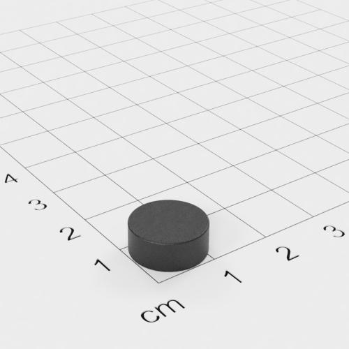 Ferrit Scheibenmagnet, 12x5 mm, Grade Y30