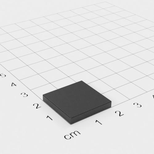 Ferrit Quadermagnet, 20x20x3mm, Grade Y30