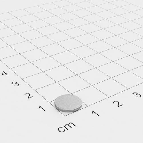 SmCo Scheibenmagnet, 10x1mm, vernickelt, Grade S280