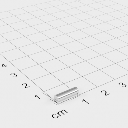 Neodym Stabmagnet, 3x10mm, vernickelt, Grade N45
