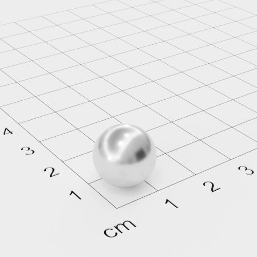 Neodym Kugelmagnet, Ø12,7mm, verchromt, Grade N42