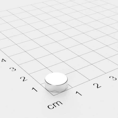Neodym Scheibenmagnet, 10x4mm, vernickelt, Grade N42