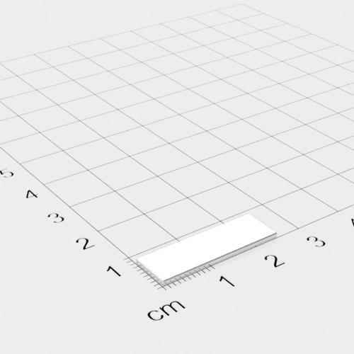 Neodym Quadermagnet, 25x8x1mm, vernickelt, Grade N48