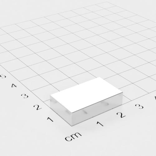 Neodym Quadermagnet, 25x15x6mm, vernickelt, Grade N45