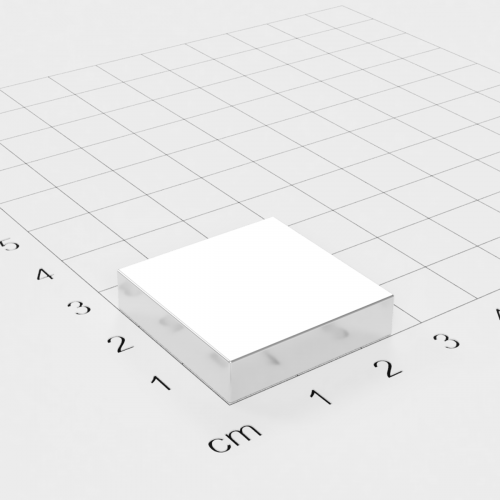 Neodym Quadermagnet, 25x25x6mm, vernickelt, Grade N45