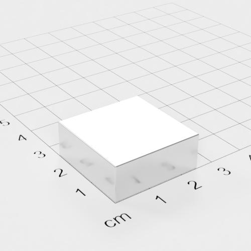 Neodym Quadermagnet, 25x25x10mm, vernickelt, Grade N45