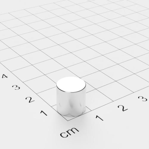 Neodym Scheibenmagnet, 10x10mm, vernickelt, Grade N45