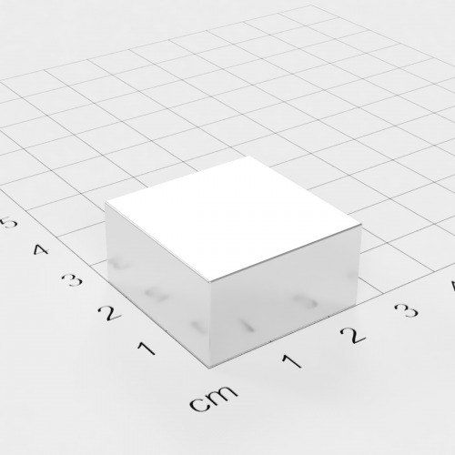 Neodym Quadermagnet, 25x25x13mm, vernickelt, Grade N40