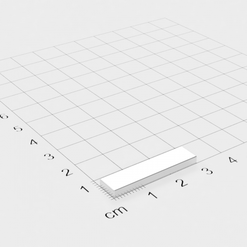 Neodym Quadermagnet, 30x7x2.5mm, vernickelt, Grade N38H
