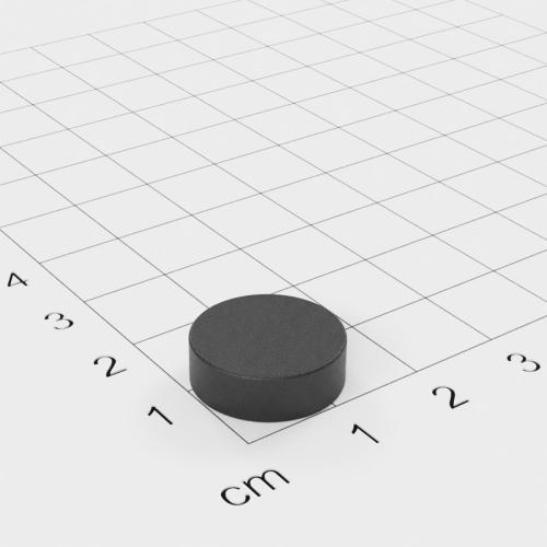 Ferrit Scheibenmagnet, 15x5 mm, Grade Y30