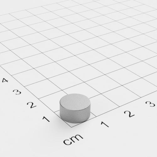 SmCo Scheibenmagnet, 10x5mm, vernickelt, Grade S280