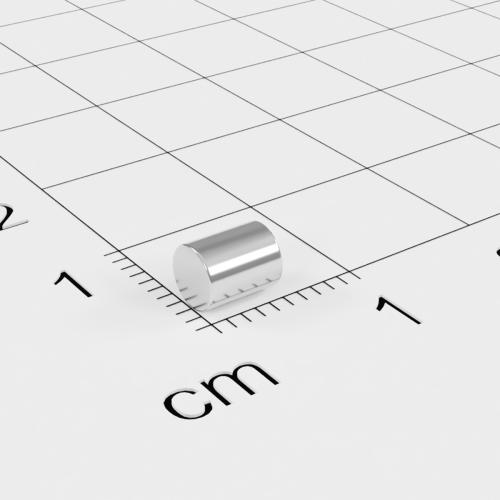Neodym Stabmagnet, 4x5mm, vernickelt, Grade N35H