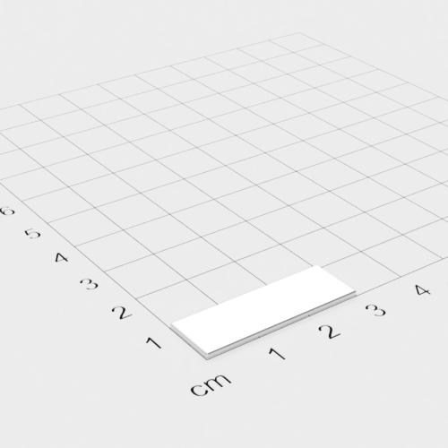 Neodym Quadermagnet, 30x10x1mm, vernickelt, Grade N35