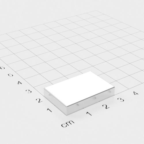 Neodym Quadermagnet, 30x20x5mm, vernickelt, Grade N38