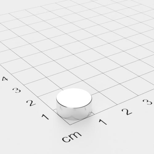 Neodym Scheibenmagnet, 12x5mm, vernickelt, Grade N45