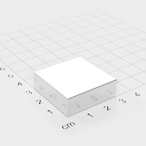 Neodym Quadermagnet, 30x30x15mm, vernickelt, Grade N45
