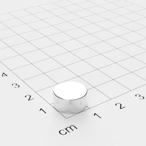 Neodym Scheibenmagnet, 12x6mm, vernickelt, Grade N45