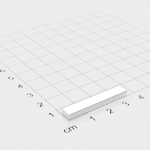 Neodym Quadermagnet, 35x6x3mm, vernickelt, Grade N52