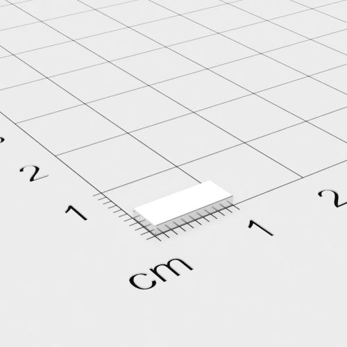 Neodym Quadermagnet, 10x4x1.2mm, vernickelt, Grade N50