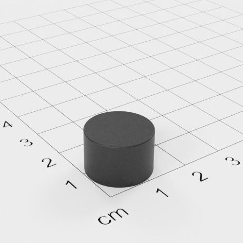 Ferrit Scheibenmagnet, 15x10 mm, Grade Y30