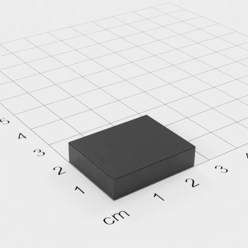 Ferrit Quadermagnet, 25x20x6mm, Grade Y30