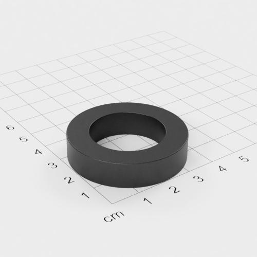 Maße Ferrit Ringmagnet, 40x9mm mit 25mm Bohrung, Grade Y30
