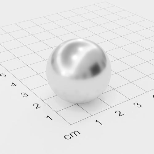 Neodym Kugelmagnet, Ø26mm, verchromt, Grade N38