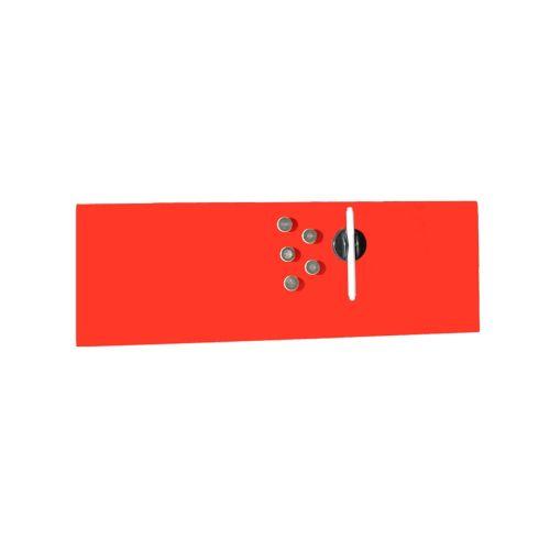Edles Magnetboard - Glas - 200x600mm - Rot - inkl. 5 Edelstahlmagnete