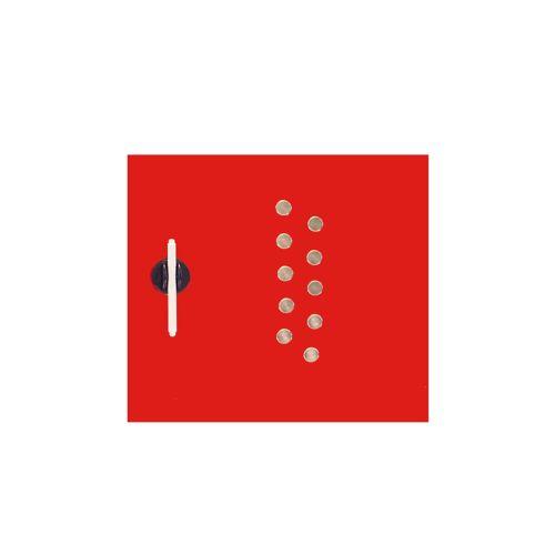 Edles Magnetboard - Glas - 450x500mm - Rot - inkl. 10 Edelstahlmagnete