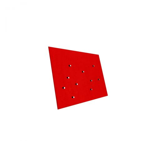 Edles Magnetboard - Glas - 450x500mm - Rot