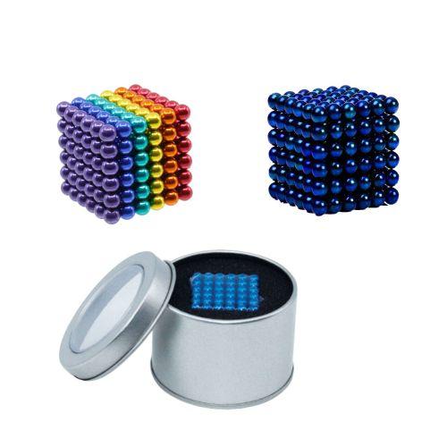 Neocube aus 5mm Magnetkugeln - Set mit 216 Kugeln zum Würfel geformt