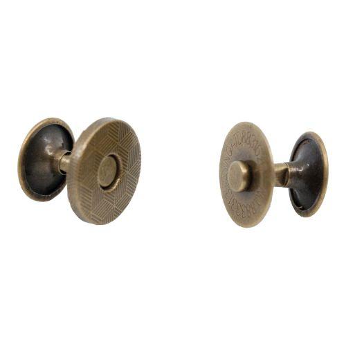 Magnetverschluss mit Nieten kupfer / Durchmesser 14mm