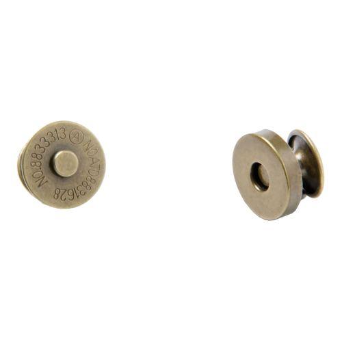 Magnetverschluss mit Nieten kupfer / Durchmesser 14mm - Dick