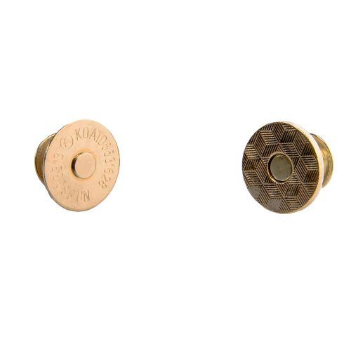 Magnetverschluss mit Nieten gold / Durchmesser 18mm