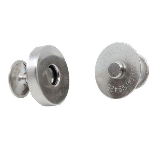 Magnetverschluss mit Nieten silber/ Durchmesser 18mm - Dick