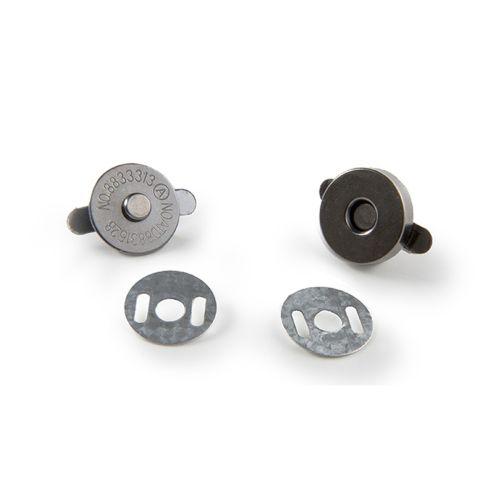 Magnetverschluss nickel schwarz / Durchmesser 14mm