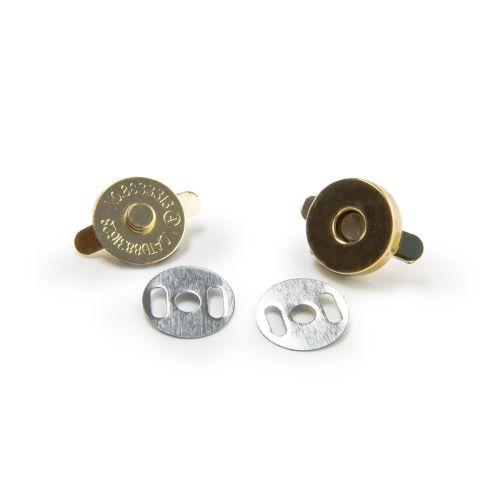 Magnetverschluss Tasche gold / Durchmesser 18mm