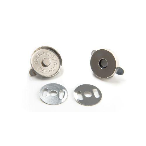 Magnetverschluss Tasche silber / Durchmesser 18mm