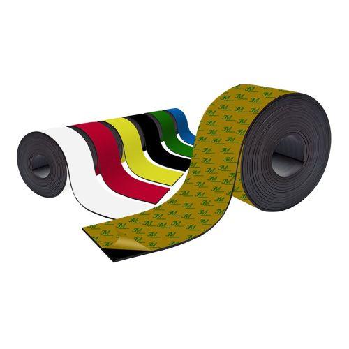 Farbiges Magnetband - Selbstklebend - 100mm breit zum Beschriften und Zuschneiden