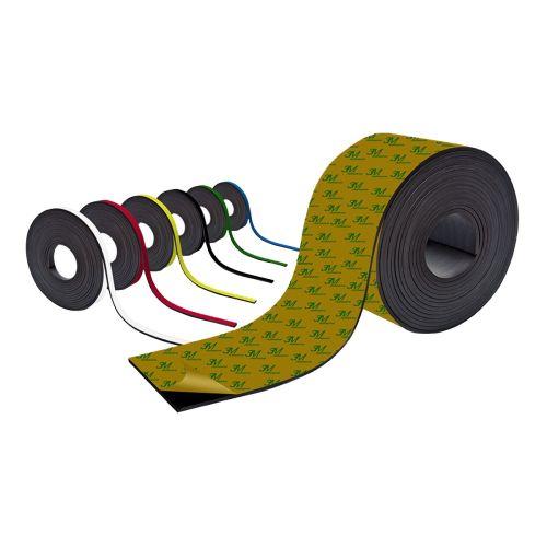 Farbiges Magnetband - Selbstklebend - 10mm breit zum Beschriften und Zuschneiden