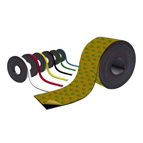 Farbiges Magnetband - Selbstklebend - 15mm breit zum Beschriften und Zuschneiden