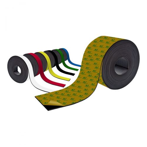 Farbiges Magnetband - Selbstklebend - 30mm breit zum Beschriften und Zuschneiden