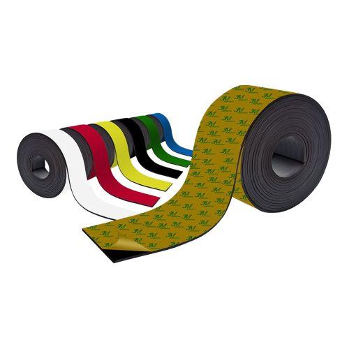 Farbiges Magnetband - Selbstklebend - 50mm breit zum Beschriften und Zuschneiden